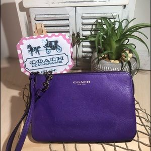 Coach ~ Purple Wristlet